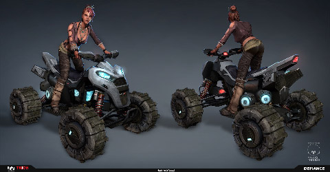 Defiance Concept Art HighTech Quad