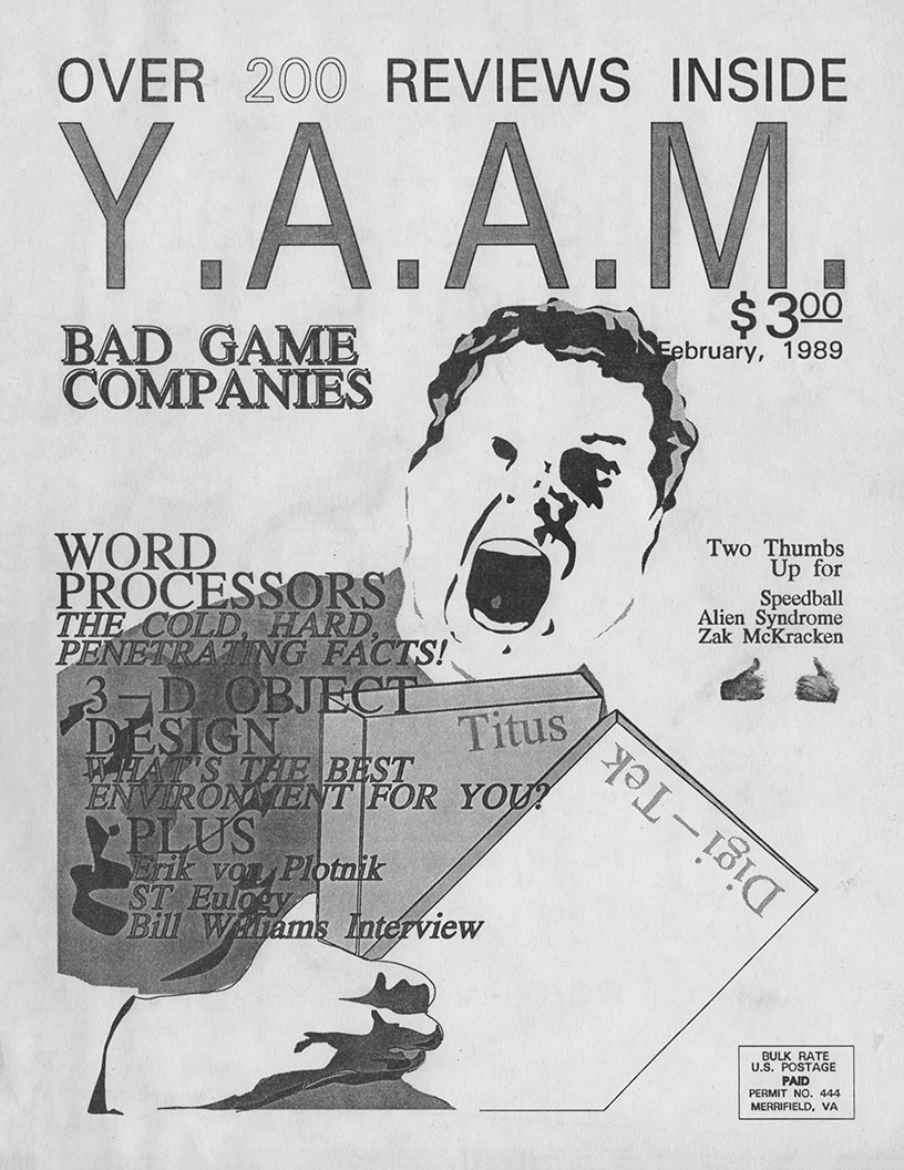 YAAM Interview: Bill Williams - YAAM Feb 1989 - VideoGame
